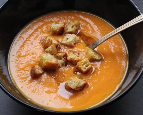 Рецепт тыквенного супа с тройным шотом карри