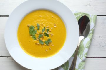 Морковный крем-суп в тайском стиле