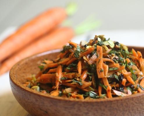 Салат из молодой моркови в марокканском стиле